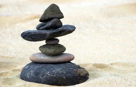 seven stones in perfect balance